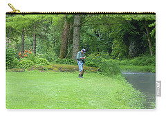 Fly Fishing On Trout Run Creek Carry-all Pouch