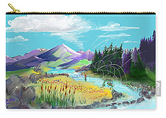 Fly Fishing With Aa Wooly Worm. Carry-all Pouch