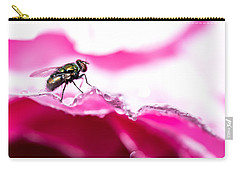 Carry-all Pouch featuring the photograph Fly Man's Floral Fantasy by T Brian Jones