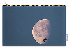 Carry-all Pouch featuring the photograph Fly Me To The Moon by Alex Lapidus