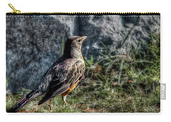 Carry-all Pouch featuring the photograph Fly Robin Fly by Pennie  McCracken