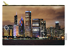 Cubs World Series Chicago Skyline Carry-all Pouch by Horsch Gallery