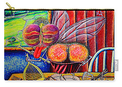 Carry-all Pouch featuring the painting fly by Viktor Lazarev