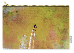 Flyboard, Sketchy And Painterly Carry-all Pouch