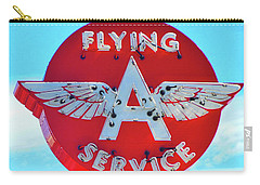 Flying A Service Sign Carry-all Pouch by Joan Reese