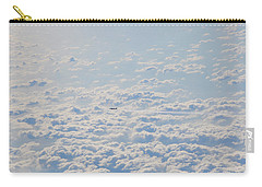 Carry-all Pouch featuring the photograph Flying Among The Clouds by Bill Cannon