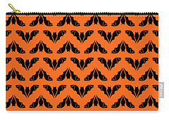 Flying Bats Pattern Black Carry-all Pouch