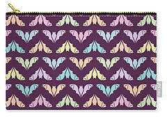 Flying Bats Pattern In Pale Colors Carry-all Pouch