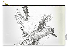 Flying Bird Sketch Carry-all Pouch by Denise Fulmer