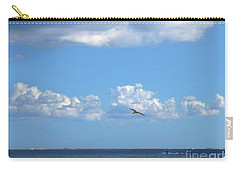 Carry-all Pouch featuring the photograph Flying By The Sea by Francesca Mackenney