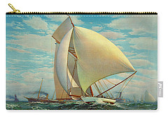 Carry-all Pouch featuring the photograph Flying Defender 1895 by Padre Art