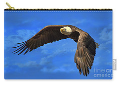 Carry-all Pouch featuring the photograph Flying Eagle by Geraldine DeBoer