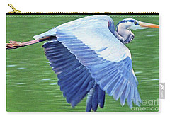 Flying Great Blue Heron Carry-all Pouch