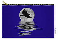 Carry-all Pouch featuring the photograph Flying Hawk 1 by Shane Bechler