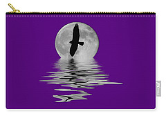 Carry-all Pouch featuring the photograph Flying Hawk 2 by Shane Bechler