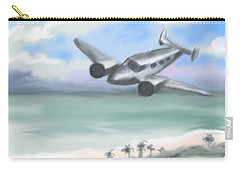 Carry-all Pouch featuring the painting Flying Low by Jean Pacheco Ravinski