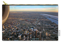 Flying Over Cincinnati Carry-all Pouch by Joann Vitali