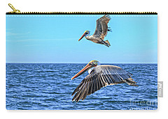 Carry-all Pouch featuring the photograph Flying Pair by Robert Bales