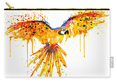 Flying Parrot Watercolor Carry-all Pouch by Marian Voicu