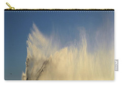 Carry-all Pouch featuring the photograph Flying Past The Water Three  by Lyle Crump