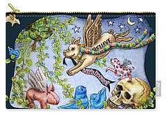 Flying Pig Party 2 Carry-all Pouch by Retta Stephenson