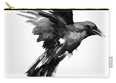 Flying Raven Carry-all Pouch by Suren Nersisyan