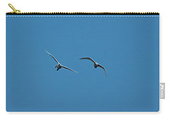 Carry-all Pouch featuring the photograph Flying Swans #g0 by Leif Sohlman