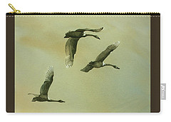 Carry-all Pouch featuring the painting Flyover by Kris Parins
