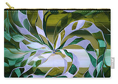 Focus - Abstract In Green And Yellow Carry-all Pouch