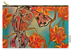 Focus Flower  Carry-all Pouch by Miriam Moran