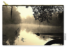 Fog And Light In Sepia Carry-all Pouch by Warren Thompson