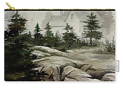 Carry-all Pouch featuring the painting Fog At The Coast by James Williamson