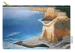 Carry-all Pouch featuring the painting Fog Burning Off by Gary Coleman