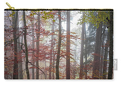 Carry-all Pouch featuring the photograph Fog In Autumn Forest by Elena Elisseeva