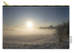 Carry-all Pouch featuring the photograph Fog In Lofoten 1 by Dubi Roman