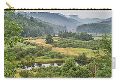 Carry-all Pouch featuring the photograph Fog In The Adirondacks by Sue Smith