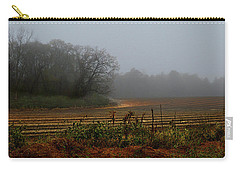 Fog In The Field Carry-all Pouch by Laura Ragland