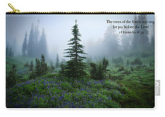 Carry-all Pouch featuring the photograph Fog In The Forest by Lynn Hopwood