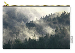 Carry-all Pouch featuring the photograph Fog Moving Through The Hills by Katie Wing Vigil