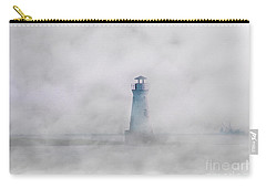 Fog On Cockspur Lighthouse Carry-all Pouch