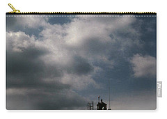 Fog On Smith Point Lighthouse  Carry-all Pouch by Skip Willits