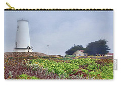 Carry-all Pouch featuring the photograph Fog - Piedras Blancas by Nikolyn McDonald