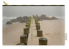 Fog Sits On Bay Head Beach - Jersey Shore Carry-all Pouch