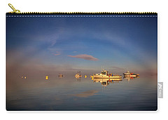 Carry-all Pouch featuring the photograph Fogbow In Lubec Harbor by Rick Berk