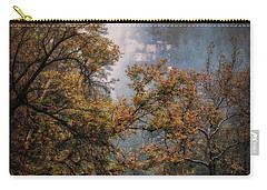 Carry-all Pouch featuring the photograph Foggy Autumn Road  by Saija Lehtonen
