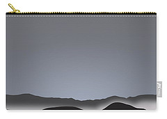 Foggy Black Mountain Range At Dusk Carry-all Pouch by Stan  Magnan