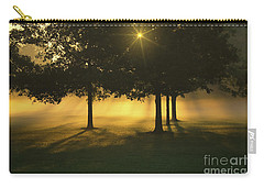 Foggy Burst Of Morning Carry-all Pouch by Rachel Cohen