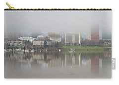 Foggy Day Along Portland Waterfront Panorama Carry-all Pouch