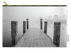 Carry-all Pouch featuring the photograph Foggy Dock In Alabama  by John McGraw