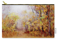 Foggy Fall Morning Carry-all Pouch by Barry Jones